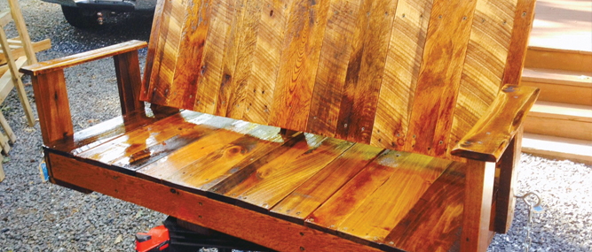 Former Bomb Expert Finds A New Career And Relaxation In Making Pallet Art  And Furniture. Increasingly, People Are Turning Old Pallets Into All Sorts  Of New ...